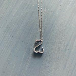 Jewelry - Open Heart Diamond Necklace 14K